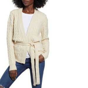 NWT Anthropologie Moon River Cable Knit Cardigan M